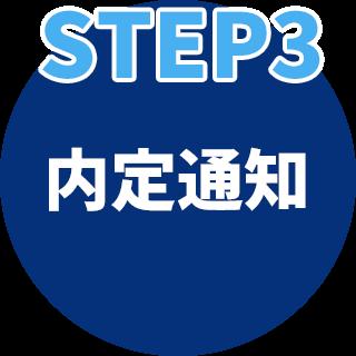 STEP3 内定通知